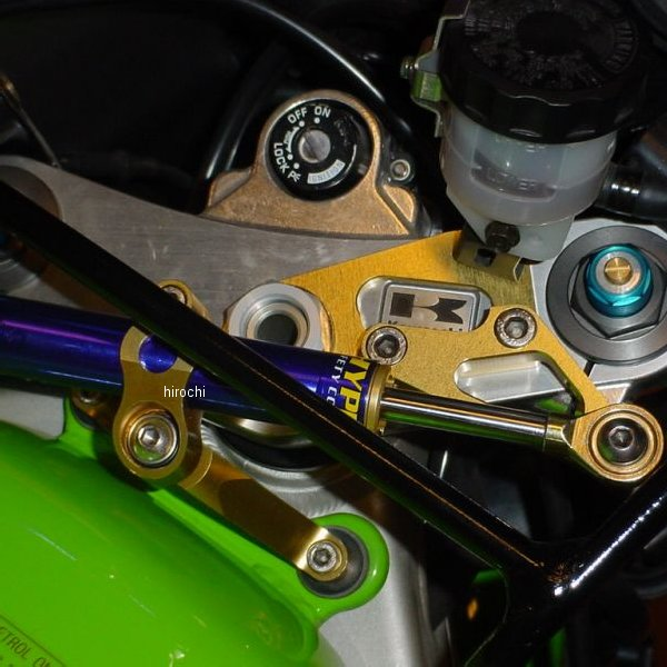 ハイパープロ HYPERPRO CNCステアリングダンパーステー 75mm/TYPE-1 00年-01年 Ninja ZX-9R 黒 22117022B JP店