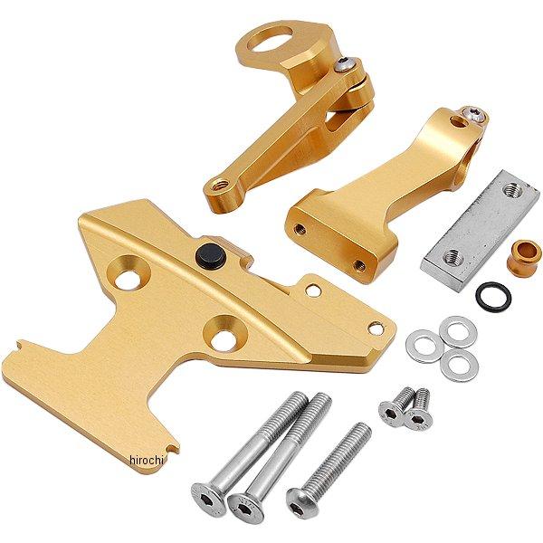 ハイパープロ HYPERPRO CNCステアリングダンパーステー 75mm 93以降 V-MAX1680、V-MAX1200 ゴールド 22113013 JP店