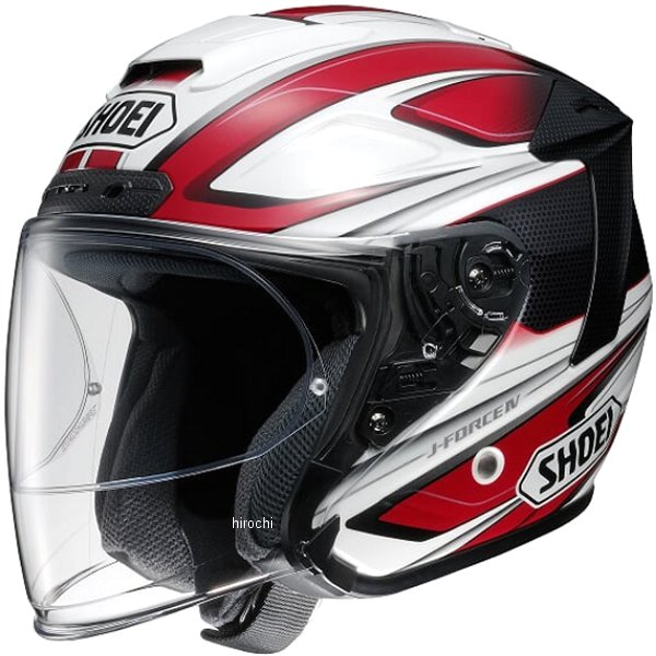 ショウエイ SHOEI ジェットヘルメット J-FORCE 4 BRILLER TC-1 赤/白 XXLサイズ 4512048456504 JP店