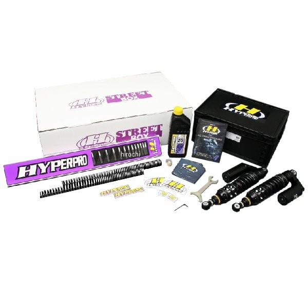ハイパープロ HYPERPRO ストリートBOX ツインショック ピギーバック 01年-08年 ZRX1200R、ZRX1200S 黒 22470019 JP店
