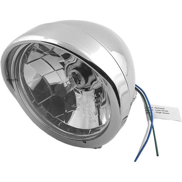 【USA在庫あり】 DRAG ヘッドライト 5.75インチ H4 バイザー クリアレンズ/クローム 2001-0095 JP店