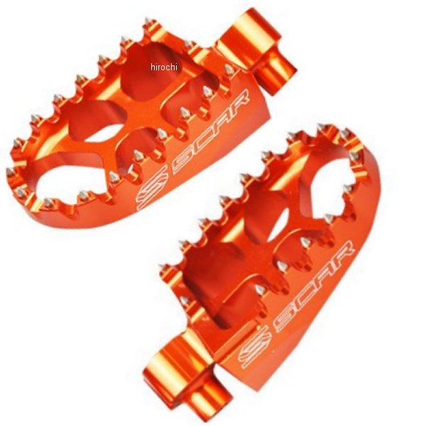 USA在庫あり スカー SCAR ご注文で当日配送 フットペグ レーシング 98年以降 ディスカウント KTM オレンジ 1620-1180 85SX 105SX アルミ JP店