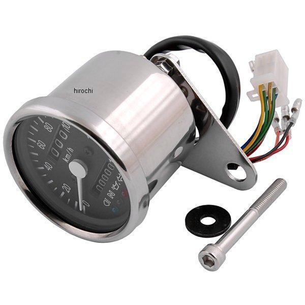【メーカー在庫あり】 ポッシュ POSH LEDバックライト4インジケーターミニメーター 機械式 79年-16年 SR500、SR400、TW200 黒パネル 100014-86 JP店
