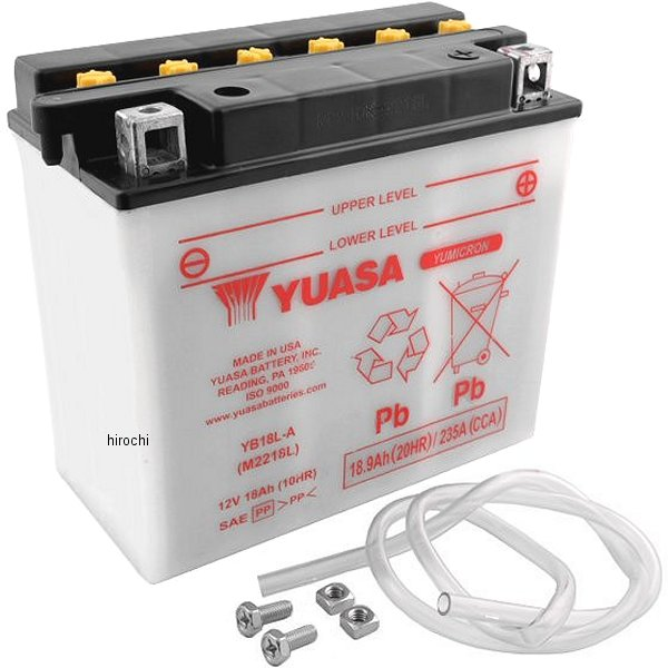 【USA在庫あり】 ユアサ YUASA バッテリー 開放型 YB18L-A YB18-LA JP店