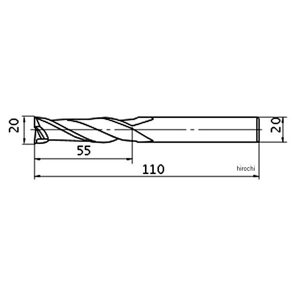 【メーカー在庫あり】 三菱マテリアル(株) 三菱K 超硬ミラクルエンドミル20.0mm VC2JSD2000 JP店