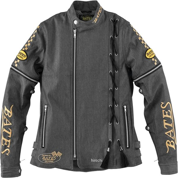 ベイツ BATES 春夏モデル 2Way 12ozデニムジャケット レディース リバーブルー Lサイズ BJL-D1734 JP店