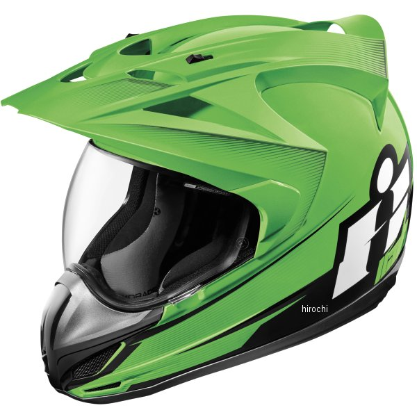 【USA在庫あり】 アイコン ICON フルフェイスヘルメット VARIANT DOUBLE STACK 緑 2Xサイズ 0101-10008 JP店