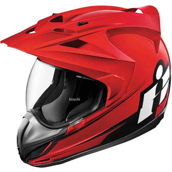 【USA在庫あり】 アイコン ICON フルフェイスヘルメット VARIANT DOUBLE STACK 赤 XSサイズ 0101-10017 JP店