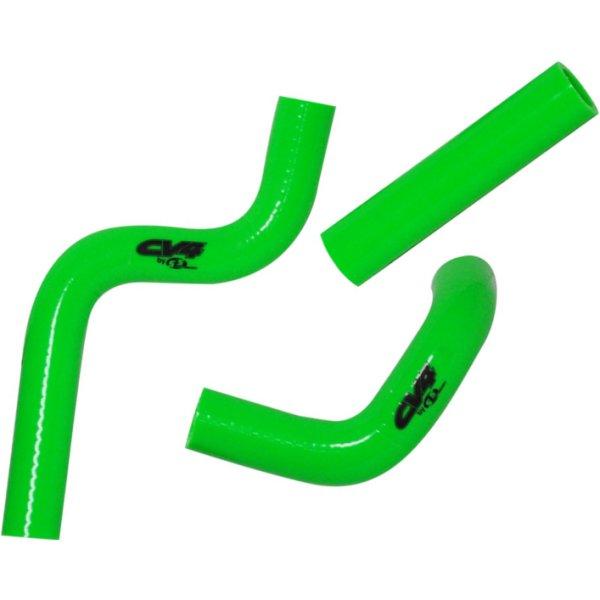 【USA在庫あり】 CV4 シーブイフォー ラジエター ホース キット 98年-13年 KX100、 KX85 緑 793523 JP店