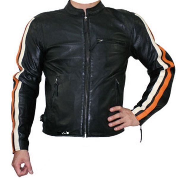 モトフィールド MOTO FIELD シープパンチングレザージャケット アイボリー/オレンジライン Mサイズ MF-LJ012P JP店