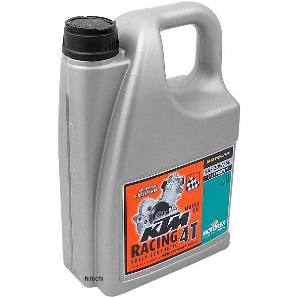 【USA在庫あり】 モトレックス MOTOREX 100%化学合成 4st KTM レーシング エンジンオイル 20W60 4リットル 980030 JP店