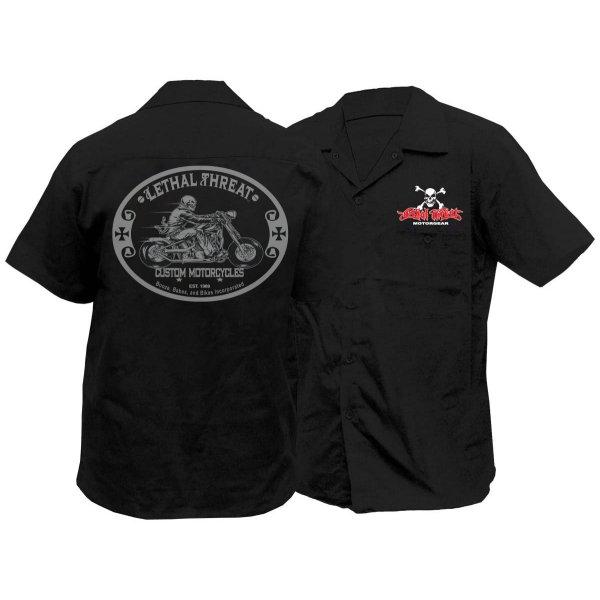 【USA在庫あり】 Lethal リーサルスレット Lethal Threat ワークシャツ カスタムモーターサイクル Mサイズ 765478 JP