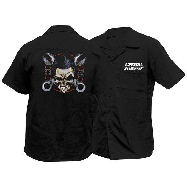 【USA在庫あり】 Lethal リーサルスレット Lethal Threat ワークシャツ レンチ スカル Mサイズ 765904 JP