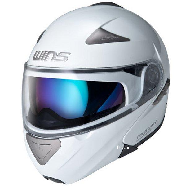 【メーカー在庫あり】 ウインズ WINS システムヘルメット MODIFY ソリッド パールホワイト Lサイズ(58-59cm) 4560385766077 JP店