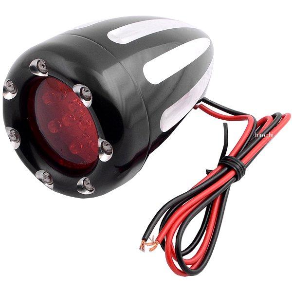 【USA在庫あり】 アレンネス Arlen Ness LED ウインカー ディープカット シングル球仕様 黒/赤 (1個売り 12-749 JP店