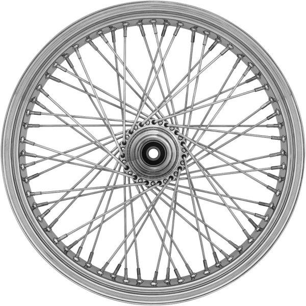 ライドライトホイール フロントホイール オメガ 60スポーク 21インチx3.5インチ クローム 00年-07年 ツーリング シングルディスク 677316 JP