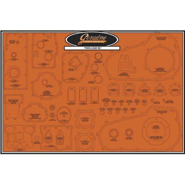 【メーカー在庫あり】 ジェームズ JAMES ガスケット ディスプレイ ボード 99年-16年 TwinCam 047722 JP