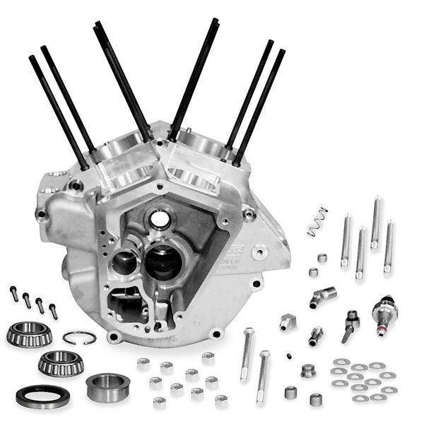 【USA在庫あり】 S&Sサイクル S&S Cycle スーパーストック エンジンケース 92年-99年 標準ボアシルバー 499512 JP店