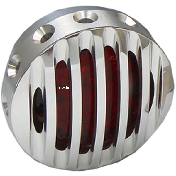 イージーライダース ドリルドフィンテールライト LED アルミフィンフェイス付き 赤レンズ 5904-R2 JP店