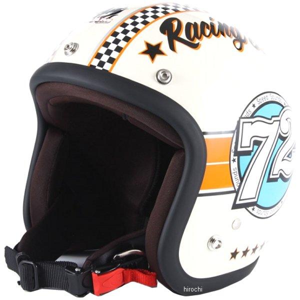 ナナニージャム 72JAM ジェットヘルメット JET SPEED SOUND アイボリー フリーサイズ(57-60cm未満) JJ-04 JP店