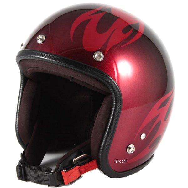 ナナニージャム 72JAM ジェットヘルメット カスタムペイントJAM BURNS 赤 フリーサイズ(57-60cm未満) JCP-01 JP店