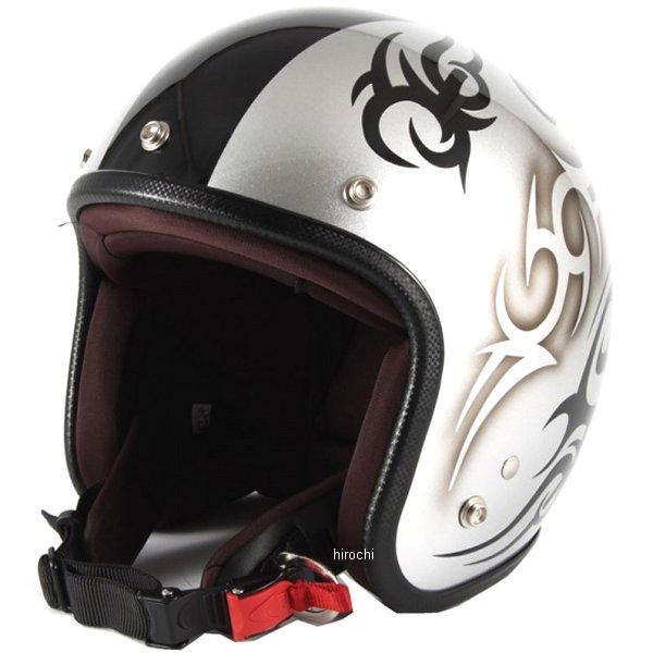 ナナニージャム 72JAM ジェットヘルメット カスタムペイントJAM TRIBAL シルバー/ブラックライン フリーサイズ(57-60cm未満) JCP-25 JP店