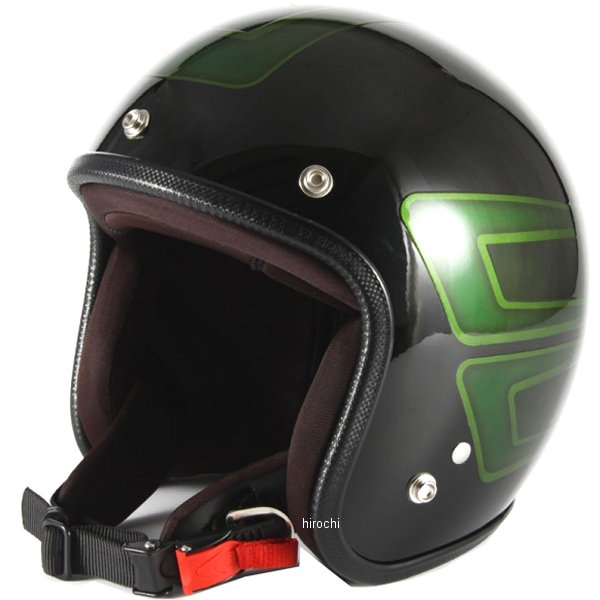 ナナニージャム 72JAM ジェットヘルメット カスタムペイントJAM SCALLOP 緑 フリーサイズ(57-60cm未満) JCP-31 JP店