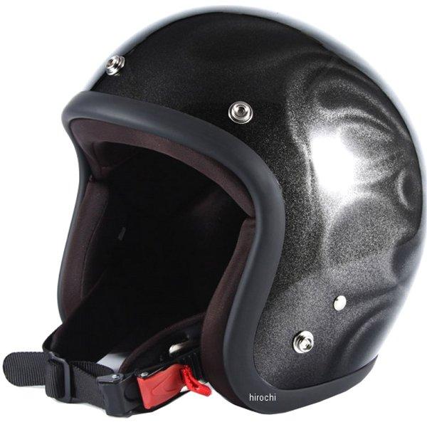 ナナニージャム 72JAM ジェットヘルメット JET GHOST FLAME 黒 フリーサイズ(57-60cm未満) JG-23 JP店