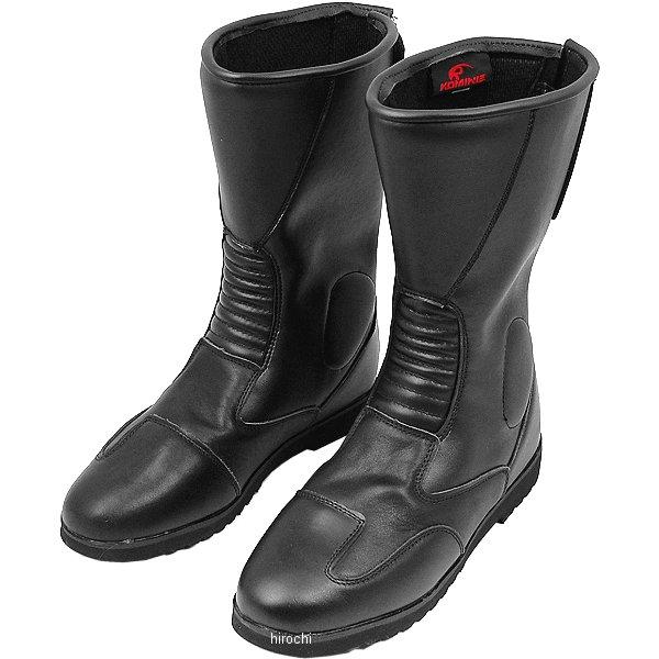 【メーカー在庫あり】 K202 コミネ KOMINE バックジッパーワイドブーツ 黒 25.0cm 4560163772702 JP店