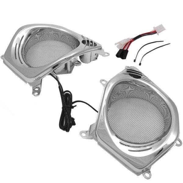 【USA在庫あり】 クリアキン Kuryakyn LED フロント スピーカーグリル (左右ペア) 06年以降 GL1800、F6B 496867 JP店
