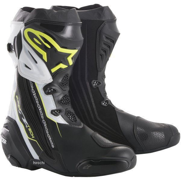 アルパインスターズ Alpinestars 秋冬モデル ブーツ SUPERTECH-R 0015 黒/蛍光黄/白 39サイズ (25cm) 8021506926566 JP店