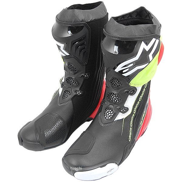 アルパインスターズ Alpinestars 秋冬モデル ブーツ SUPERTECH-R 0015 黒/赤/蛍光黄 47サイズ (30.5cm) 8021506924203 JP店