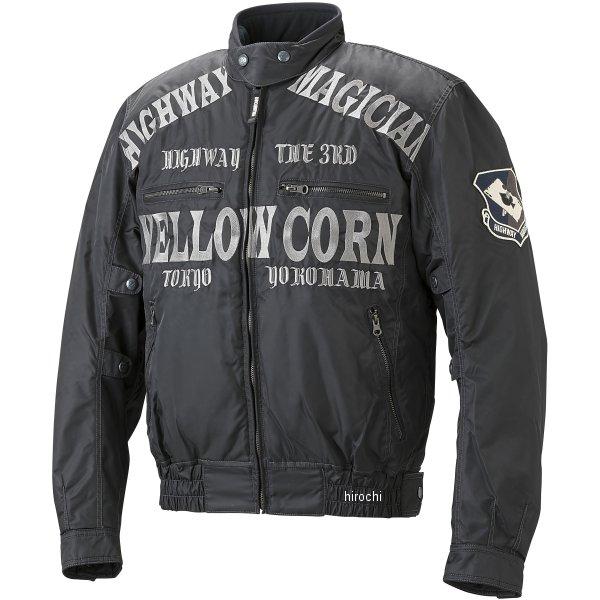 イエローコーン YeLLOW CORN 秋冬モデル ウインタージャケット 黒/ガンメタル Lサイズ YB-7306 JP店