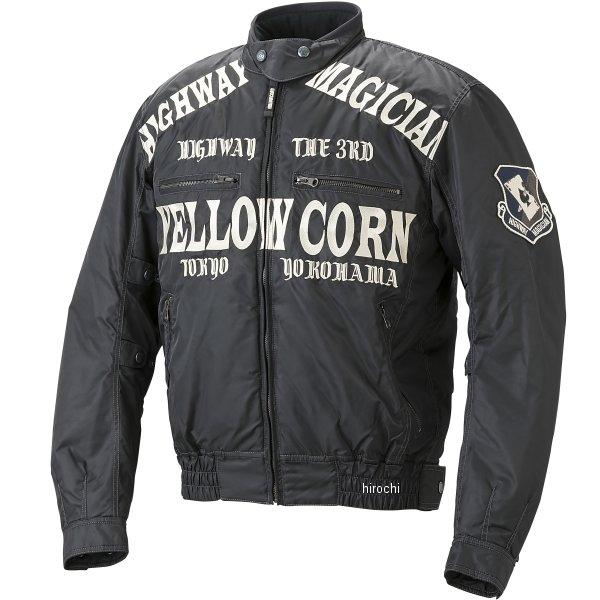 イエローコーン YeLLOW CORN 秋冬モデル ウインタージャケット 黒/アイボリー Lサイズ YB-7306 JP店