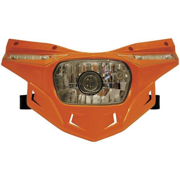【USA在庫あり】 ユーフォープラスト UFO PLAST ヘッドライトセット ステルス オレンジ 117370 JP店