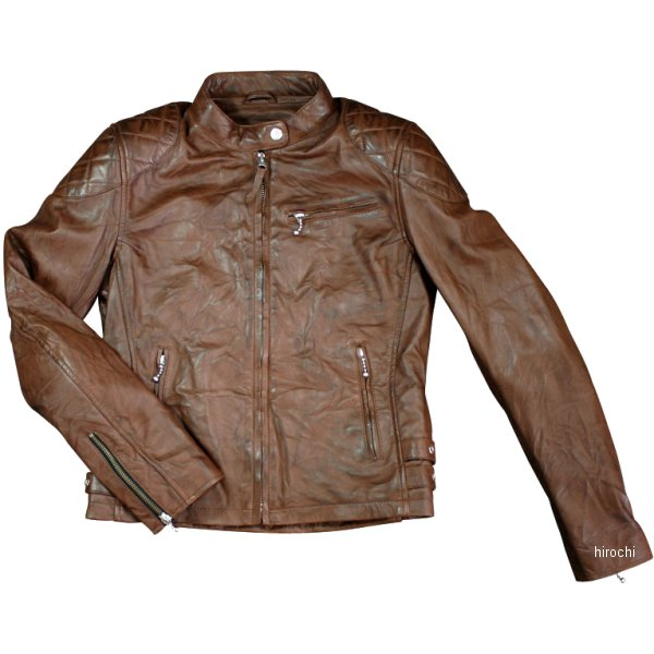 モトフィールド MOTO FIELD 秋冬モデル シングルレザージャケット レディース ブラウン Lサイズ MF-LJ122 JP店