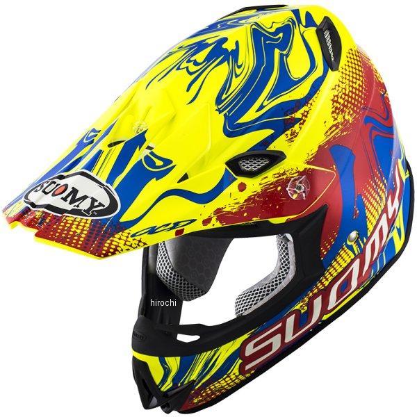 【メーカー在庫あり】 MJ0036 スオーミー SUOMY オフロードヘルメット MR.JUMP グラフティ 赤/黄 Sサイズ(55cm-56cm) SMJ003601 JP店