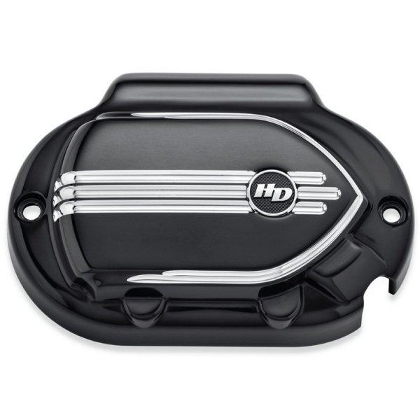 【USA在庫あり】 ハーレー純正 トランスミッションサイドカバー ディファイアンス 17年以降 FLH 黒マシンカット 25800065 JP店