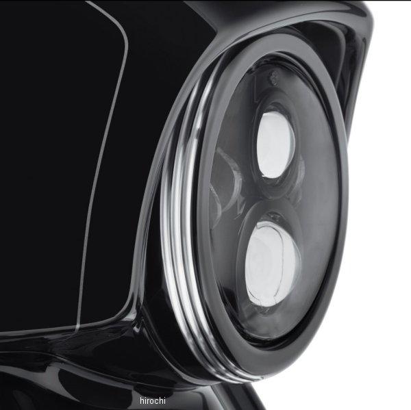 【USA在庫あり】 ハーレー純正 7インチ ヘッドライトトリムリング ディファイアンス 黒マシンカット 61400349 JP店