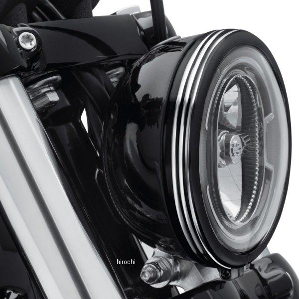 【USA在庫あり】 ハーレー純正 ヘッドライトトリムリング ディファイアンス 18年以降 FXBB 5-3/4インチ/黒マシンカット 61400430 JP店