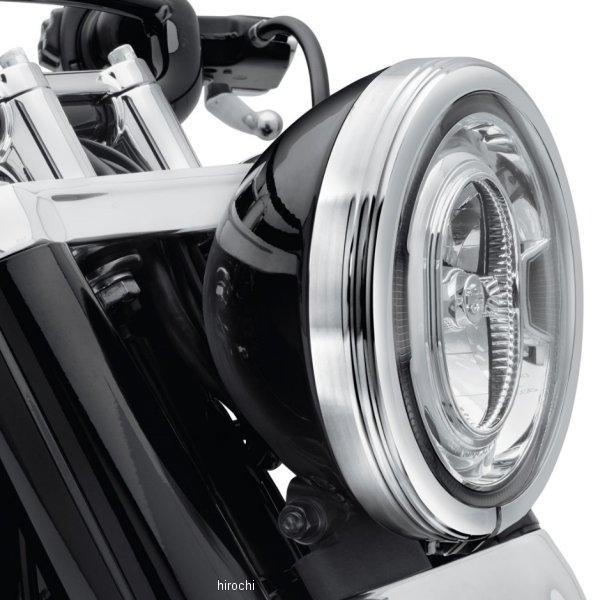【USA在庫あり】 ハーレー純正 ヘッドライトトリムリング ディファイアンス 18年以降 FLDE、FLHC 7インチ/クローム 61400432 JP店