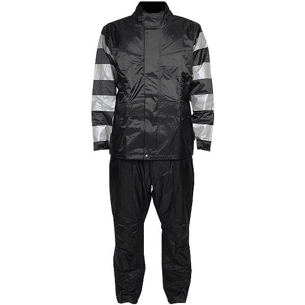 【メーカー在庫あり】 TFR-1401 トゥエンティ・フォー・セブン カスタムレザース 24/7 Custom Leathers レインスーツ グレー/黒 Sサイズ TFR-1401-GY-BK-S JP店