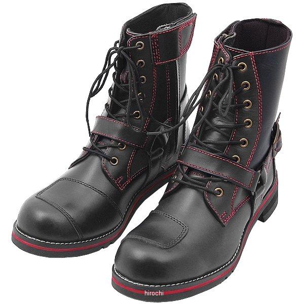 ワイルドウイング WILDWING ライディングブーツ ファルコン フラッグシップモデル 黒/赤 25.5cm WWM-0001 JP店