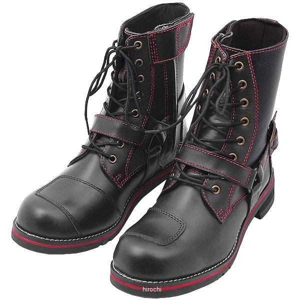 ワイルドウイング WILDWING ライディングブーツ ファルコン フラッグシップモデル 黒/赤 27.0cm WWM-0001 JP店