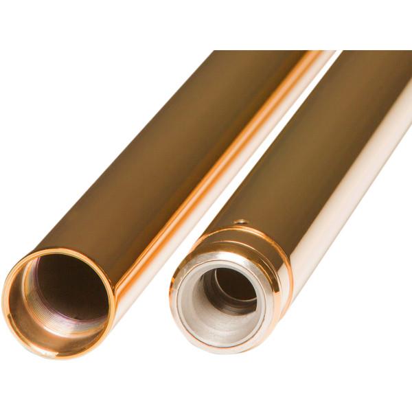 【USA在庫あり】 カスタムサイクル Custom Cycle Engineerin 49mm ゴールド フォーク チューブ 23.5インチ(597mm) 0404-0337 JP店