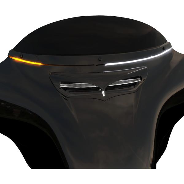 【USA在庫あり】 チロ CIRO ウインドシールド トリム 14年以降 FLH 黒/LED付 2350-0470 JP店