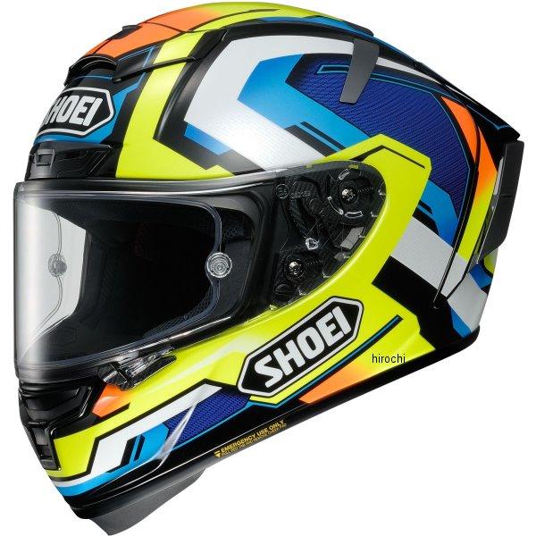 ショウエイ SHOEI フルフェイスヘルメット X-Fourteen BRINK ブリンク TC-10 黄/青 XXLサイズ (63-64cm) 4512048472368 JP店