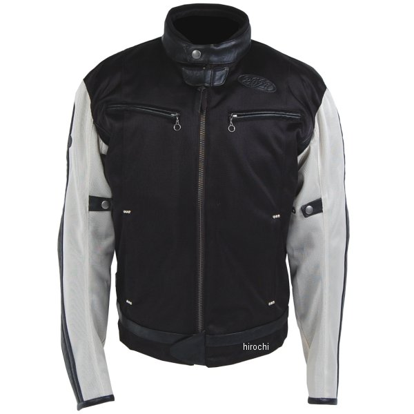 TFJ1801 トゥエンティ・フォー・セブン カスタムレザース 24/7 Custom Leathers 2018年春夏モデル メッシュジャケット アイボリー/黒 Sサイズ TFJ1801-IV-BK-S JP店