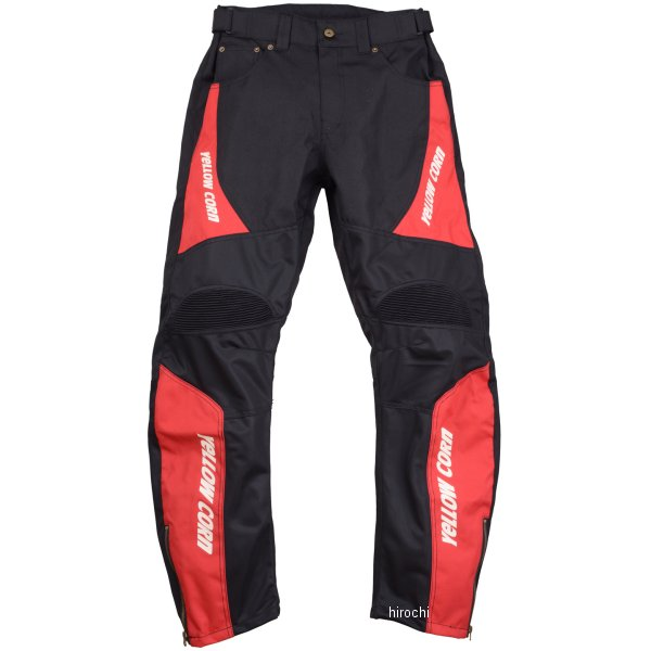 イエローコーン 2018年春夏モデル パンツ 黒/赤 LLサイズ YP-8131 JP店