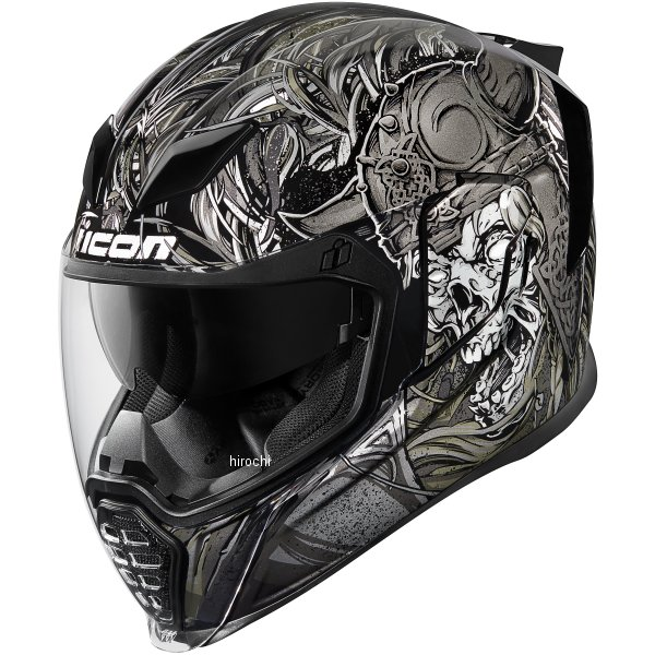 【USA在庫あり】 アイコン ICON フルフェイスヘルメット AIRFLITE KROM 黒 XSサイズ(53cm-54cm) 0101-10812 JP店